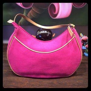 Etienne Aigner Pink Canvas purse